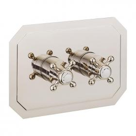 Crosswater Belgravia Crosshead Nickel 1501 Landscape Shower Valve With 2 Way Diverter