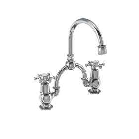 Burlington Birkenhead Bridge Basin Mixer With Curved Spout & Overflow