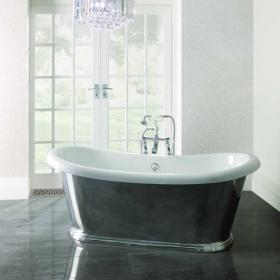 BC Designs Boat Polished Aluminium Freestanding Bath