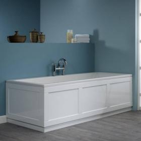 Roper Rhodes Hampton 1700mm Chalk White Front Bath Panel