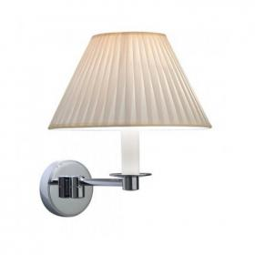 Imperial Brokton Wall Light With Round Flat Pleated Cotton Shade