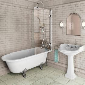 Burlington Bath Screen - 85cm x 145cm