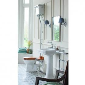 Burlington Victorian 61cm Basin & High Level Toilet Set