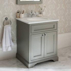 Burlington Olive 670mm Freestanding Vanity Unit With Minerva Worktop & Basin