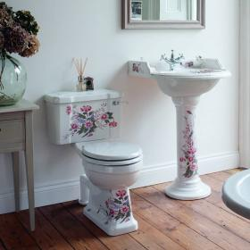 Burlington English Garden Toilet & Basin Set