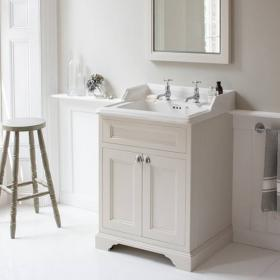 Burlington Sand 650mm Freestanding Vanity Unit With Doors & Classic Basin