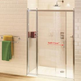 Burlington Sliding Shower Door With Inline Panel