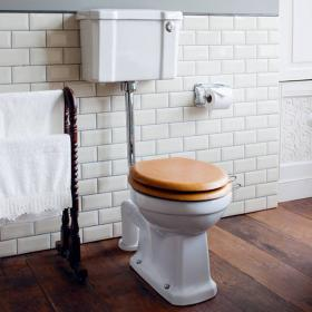 Burlington Low Level Toilet With Front Button