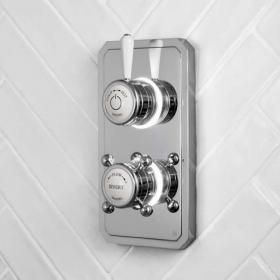 Burlington Classic 1910 Dual Outlet Digital Shower Valve - High Pressure