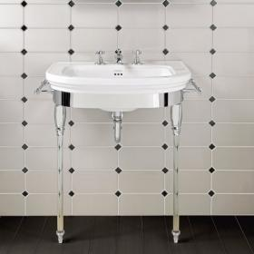 Imperial Carlyon Large Basin Stand With Glass Legs