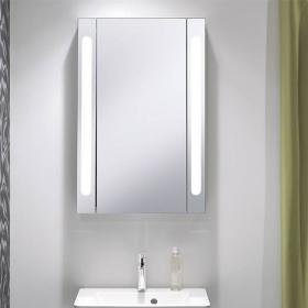 Bauhaus Electric 550mm Aluminium Mirror Cabinet