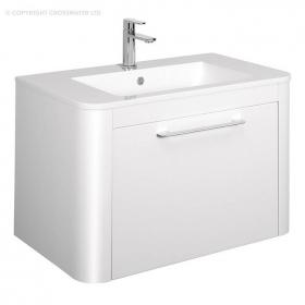 Bauhaus Celeste 800mm White Gloss Vanity Unit & Basin