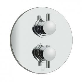 Vado Celsius Round Twin Outlet Thermostatic Shower Valve