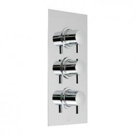 Vado Celsius Twin Outlet 3 Handle Thermostatic Shower Valve
