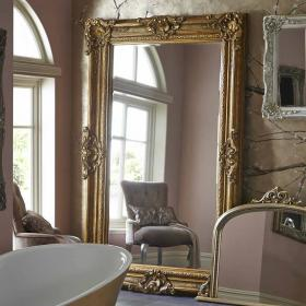 Heritage Chesham Grand Amber Gold Mirror