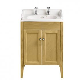 Heritage Caversham Oak Vanity Unit & Dorchester Square Basin
