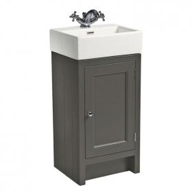 Roper Rhodes Hampton 400mm Pewter Cloakroom Unit & Basin