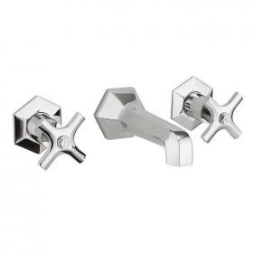 Crosswater Waldorf Chrome Crosshead Wall Mounted Bath Filler