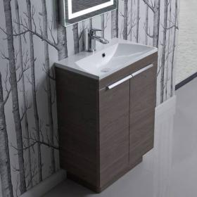 Roper Rhodes Cypher 600mm Dark Elm Freestanding Unit & Basin