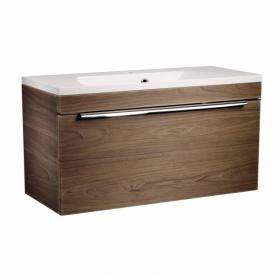 Roper Rhodes Cypher 800mm Dark Elm Wall Mounted Unit & Basin
