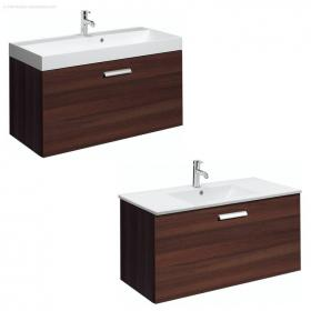 Bauhaus Design Plus 100 Drawer Walnut Vanity Unit & Basin