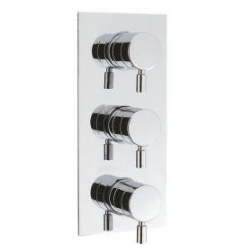 Crosswater Design Thermostatic Shower Valve With 3 Way Diverter