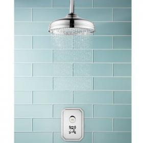 Crosswater Dial 1 Control Shower Valve With Belgravia Trim & Shower Head