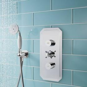 Crosswater Dial 2 Control Shower Valve With Belgravia Trim & Shower Head & Handset