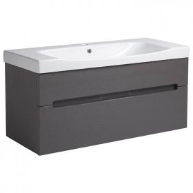 Roper Rhodes Diverge Charcoal Elm 1000mm Wall Mounted Unit & Basin