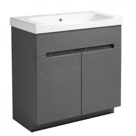 Roper Rhodes Diverge Charcoal Elm 800mm Freestanding Unit & Basin