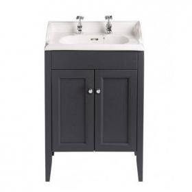 Heritage Caversham Graphite Vanity Unit & Dorchester Square Basin