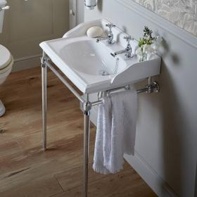 Heritage Dorchester Basin & Abingdon Chrome Washstand