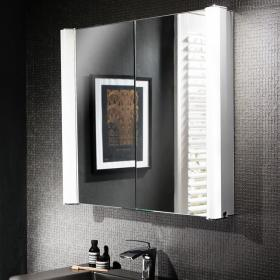 Bauhaus Duo 800mm LED Illuminated Mirror Cabinet