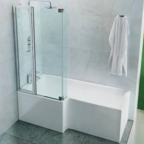 Britton Cleargreen EcoSquare 1700 x 700mm Shower Bath - Left Hand