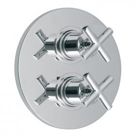 Vado Elements Twin Outlet Thermostatic Shower Valve