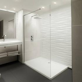 Elite 1200mm Walk In Shower Screen & Shower Tray
