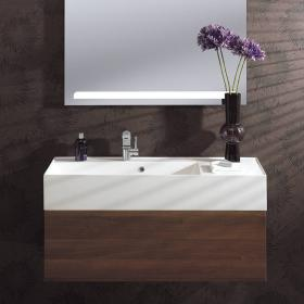 Bauhaus Elite 100 Walnut Vanity Unit & Basin