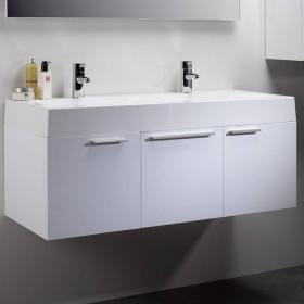 Roper Rhodes Envy Gloss White 1200mm Double Wall Mounted Unit & Basin