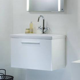 Roper Rhodes Envy Gloss White 600mm Wall Mounted Unit & Basin