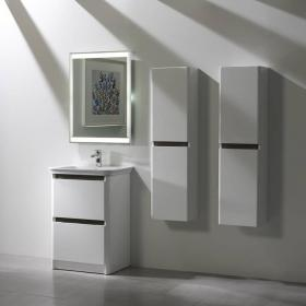Tavistock Equate White & Grey Oak 600mm Freestanding Unit & Basin