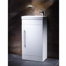 Roper Rhodes Esta Gloss White 460mm Freestanding Unit & Basin