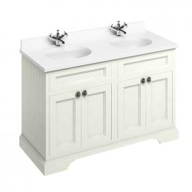 Burlington Sand 1300mm Freestanding Double Vanity Unit, Worktop & Basin
