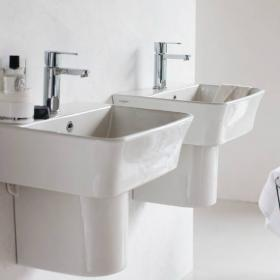 Britton Fine 500mm Basin & Round Fronted Semi Pedestal