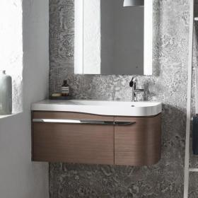 Roper Rhodes Cirrus Fineline Grey Wall Mounted Vanity Unit & Basin