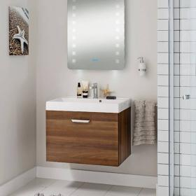 Bauhaus Design Plus 70 Drawer Walnut Vanity Unit & Basin