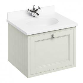 Burlington Sand 650mm Wall Hung Vanity Unit With Worktop & Basin