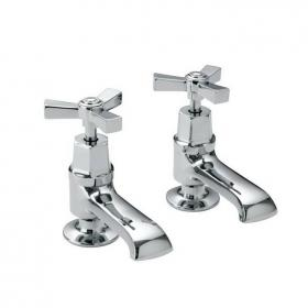 Heritage Gracechurch Basin Pillar Taps