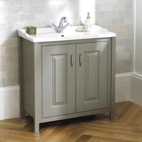 Old London Stone Grey 800mm Floorstanding Vanity Unit & Basin