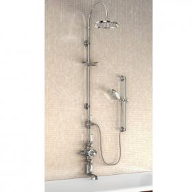 Burlington Avon Exposed Thermostatic Shower Valve and Rigid Riser Kit