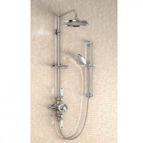 Burlington Avon Exposed Thermostatic Shower Valve With Rigid Riser Kit